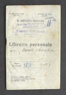 Militaria - Libretto Personale R. Esercito Italiano Ufficiali Moncalieri - 1930 - Documenti