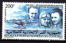 Comores P.A.  N° 182 X 50è Anniv. De La Traversée De L'Atlantique Sud Par Mermoz Trace De Charnière Sinon TB - Comores (1975-...)