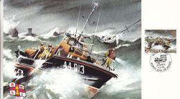 Jersey - Carte Postale FDC De 1984 - Oblit Royal Visit Jersey - Bateaux - - Jersey