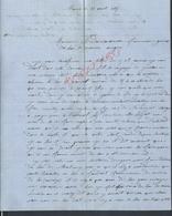 LETTRE DE 1865 DE MAURS A DESVARANNES FOURNISSEUR DE BOIS LA MARINE ANGERS : - Manuscrits