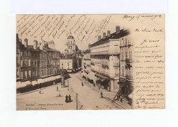 Sur Carte Postale Bourg Type Mouchon 10 C. Rose CAD Gare De Bourg En Bresse 1903. (943) - Marcophilie (Lettres)