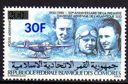 Comores P.A.  N° 183 X Timbre Mermoz Surchargé Trace De Charnière Sinon TB - Comores (1975-...)