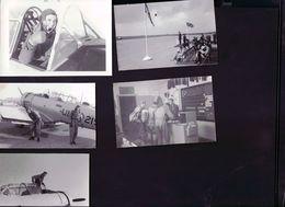 24 Photos Pilotes De Chasse ,base Centralia Au Canada 1956 - Aviation