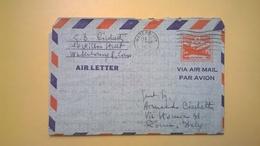 1956 BUSTA AEROGRAMME AEROGRAMMA AIR LETTER AIR MAIL ANNULLO WATERBURY PER ITALY - Interi Postali