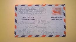 1956 BUSTA AEROGRAMME AEROGRAMMA AIR LETTER AIR MAIL ANNULLO LOS ANGELES PER ITALY - Interi Postali