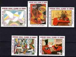 Comores P.A.  N° 184 / 88 X 100è Anniv. De La Naissance De P. Picasso, Les 5 Tableaux Trace De Charnière Sinon TB - Comores (1975-...)