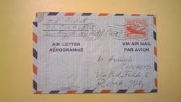 1959 BUSTA AEROGRAMME AEROGRAMMA AIR LETTER AIR MAIL ANNULLO WATERBURY PER ITALY - Interi Postali