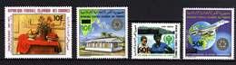 Comores P.A.  N° 189 / 92 X Série Des 4 Timbres Surchargés Trace De Charnière Sinon TB - Comores (1975-...)
