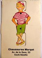 """Carte Postale Ancienne De ESCH Sur ALZETTE - Carte Publicitaire """"Chaussures Margot"""" - Très BON ETAT - Esch-sur-Alzette"""