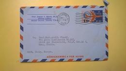 1961 BUSTA AEROGRAMME AEROGRAMMA AIR LETTER AIR MAIL ANNULLO MOUNT CARROLL PER ITALY - Interi Postali