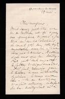 L.A.S. Eugène DUFEUILLE (1842-1911) Secrétaire Du Comte De PARIS - Dernier Représentant Des Royalistes Libéraux - Historical Documents
