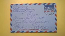 1960 BUSTA AEROGRAMME AEROGRAMMA AIR LETTER AIR MAIL ANNULLO MATERBURY PER ITALY - Interi Postali