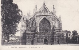 EXETER CATHEDRAL - WEST FRONT . LL 1 - Exeter