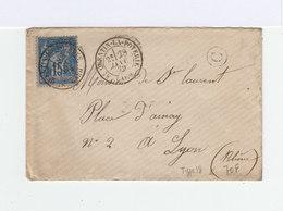 Sur Enveloppe Type Sage Oblitéré CAD Type 18 Saint Quentin La Poterie 1879. Cachet Boîte Rurale C Dans Cercle. (945) - Marcophilie (Lettres)