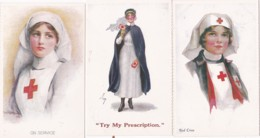 6 REPRO POSTCARDS OF THE NURSING PROFESSION - Professions
