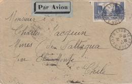 LETTRE. 10 FEVRIER 1934. N° 261III. LYON POUR LE CHILI NALTAGUA PAR EL MONTE ET SANTIAGO - Marcophilie (Lettres)