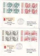 SUISSE 1984 LOT DE 2 LETTRES DE BERNE - Storia Postale