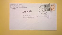 1964 BUSTA AIR MAIL BOLLO LIBERTY FOR ALL  PER LONDRA LONDON ENGLAND - Posta Aerea