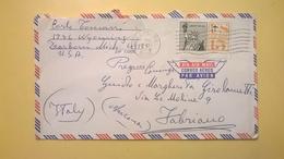 1965 BUSTA AIR MAIL BOLLO LIBERTY FOR ALL ANNULLO DEARBORN  PER ITALY - Posta Aerea