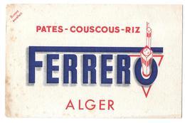 Buvard Ferrero Alger - Alimentaire