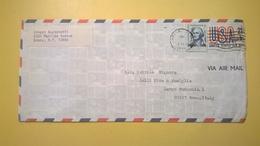 1974 BUSTA AIR MAIL BOLLO UNITED STATES  ANNULLO BRONX  PER ITALY BOLLO GEORGE WASHINGTON - Posta Aerea