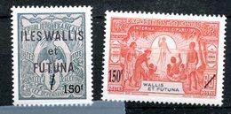 Wallis & Futuna : Yvert 649 & 650 Neuf Xxx - 59e Salon D'automne Les Premiers Timbres De Wallis - T 772 - Wallis-Et-Futuna