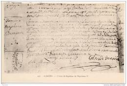 L'acte De Bapteme De Napoléon Ier - Histoire