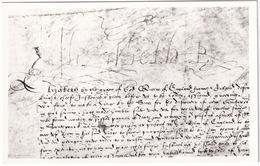 SIGN MANUEL Of Queen Elizabeth, Royal Signature On A Warrant - Geschiedenis