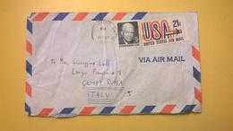 1971 BUSTA AIR MAIL BOLLO UNITED STATES  ANNULLO COLUMBUS PER ITALY BOLLO EISENHOWER - Posta Aerea