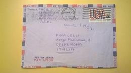 1971 BUSTA AIR MAIL BOLLO UNITED STATES ANNULLO BERKELEY  PER ITALY - Posta Aerea