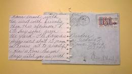 1971 BUSTA AIR MAIL BOLLO UNITED STATES ANNULLO TAMPA  PER ITALY CON LETTERA - Posta Aerea