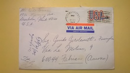 1969 BUSTA AIR MAIL BOLLO UNITED STATES ANNULLO DEARBORN  PER ITALY CON CHIUDI LETTERA - Posta Aerea