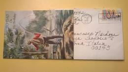 1970 BUSTA AIR MAIL BOLLO UNITED STATES ANNULLO TAMPA PER ITALY CON LETTERA CARTONCINO HAPPY BIRTHDAY HALLMARK - Posta Aerea
