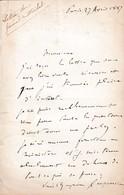 1887 - L.A.S. Général Marie François Joseph De MIRIBEL (1831-1893) - - Documents Historiques