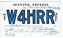 Very Old QSL From W4HRR (J. R. Good Jr., Washington Rd., Augusta, Georgia, USA) (1950) - Radio Amateur