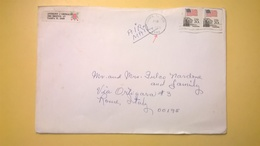 1984 BUSTA AIR MAIL BOLLO USA 20C ANNULLO TAMPA PER ITALY - Storia Postale