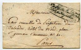 """Marque"""" Service De Son Altesse Royale Monseigneur Duc D'Angouleme""""sur LSC Arrivée PARIS 24/02/1818 Senechal N°3629 - Storia Postale"""