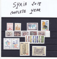Syria 2018 COMPLETE YEAR ISSUE - MNH , Scarce Sets - Souvenir Sheets Price On Request-19 Stamps-SKRILL PAY.ONLY - Syria