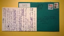 1989 BUSTA AIR MAIL BOLLO USA 20C 25C ANNULLO TAMPA PER ITALY CON LETTERA - Storia Postale