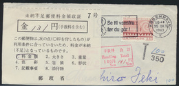 Dänemark Japan Ausschnitt Zahlbelg 25.10.1983 Ab Kopenhagen - Denmark