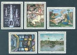 CUBA - MNH/** - 1967 - PAINTS  - Yv 1086-1090 - Lot 18469 - Cuba