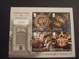 GREAT BRITAIN 2017.  ST GEORGE CHAPEL WINDSOR CASTLE With NUMBER   MNH** (105-39-10) - 1952-.... (Elizabeth II)