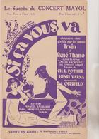 (GEO1)SI CA VOUS VA ,  IRVIN & RENE THANO , Paroles CH L POTHIER , Musique C OBERFELD - Partitions Musicales Anciennes