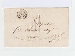 Sur Pli Avec Correspondance CAD Puy St Martin Drôme 1844. Grand CAD Destination Salon. (950) - Marcophilie (Lettres)