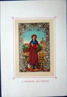SAINT FIACRE   IMAGE PIEUSE 1866 CHROMOLITHOGRAPHIEE KELLERHOVEN  18 X 12  Et 11 X 8 Cm TT - Images Religieuses