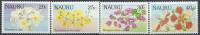 1986 NAURU 323-26** Fleurs - Nauru