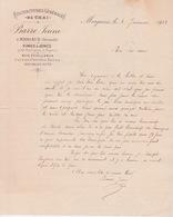 1901 - FACTURE ENTETE FOURNITURES GÉNÉRALES DE CHAI - VIGNE  CERCLE FUT BARRIQUE - A MARGAUX 33 GIRONDE - 1900 – 1949
