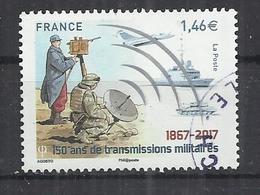 FRANCE 2017 - 150 ANS DE TRANSMISSIONS MILITAIRES - OBLITERE USED GESTEMPELT USADO - France