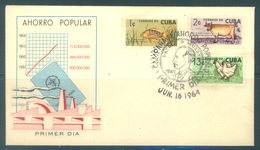 CUBA - FDC - 1964 - NATIONAL ECONOMY VIS CAW CHICKEN  - Yv 718-720 - Lot 18471 - FDC