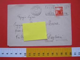 A.01 ITALIA ANNULLO TARGHETTA - 1946 GENOVA FIERA DI MILANO DEMOCRATICA 4 LIRE - Esposizioni Universali
